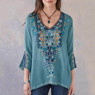 Embroidered Long-sleeved Shirt