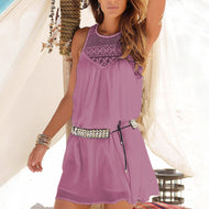 Lace Chiffon Strap Beach Dress