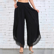 Women's Lace Lace Harem Pants Wide Leg Pants Women