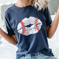 Casual Lips Short Sleeve T-shirt
