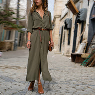 Fashion Loose Long Sleeve Casual Dress