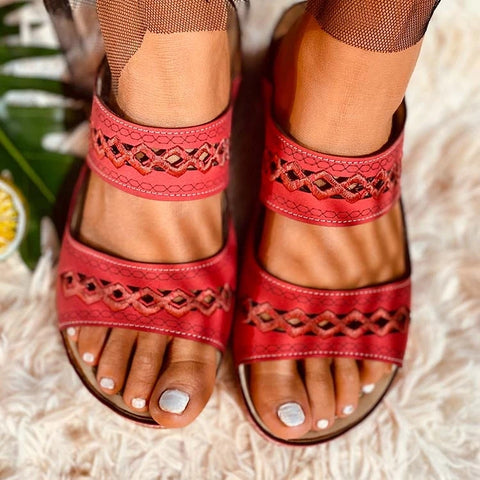 Retro Casual Cutout Sandals