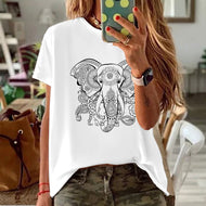 Big Ben Elephant Kwai Print Top