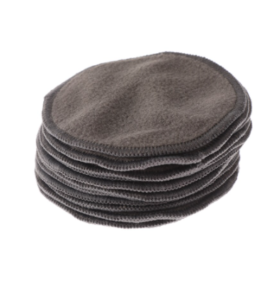Reusable Charcoal Cotton Pads - 10 Pack