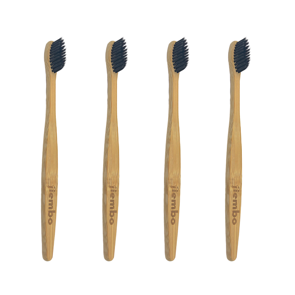 4 Pack Eco Bamboo Toothbrush