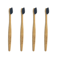 4 Pack Eco Bamboo Toothbrush - Bundle and Save! - Jiembo