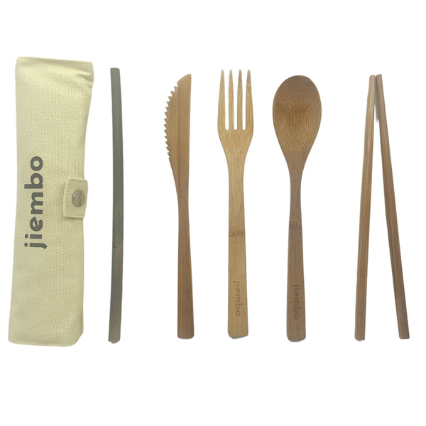 Reusable Eco Bamboo Cutlery Full Set - Jiembo
