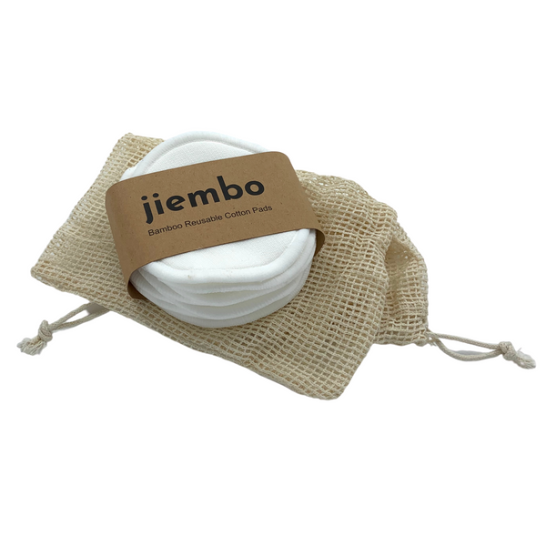 10 Set Reusable Bamboo Cotton Pads - Makeup Remover - Jiembo