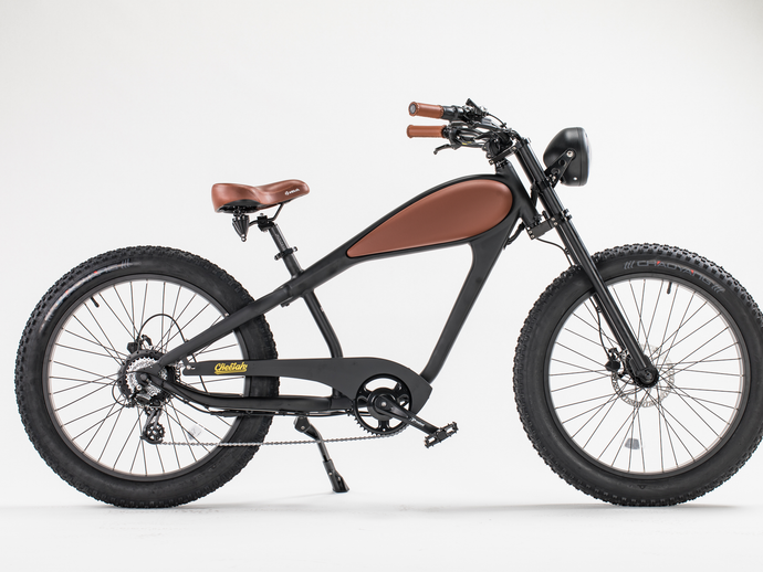 Revi Bikes – The Cheetah – Café Racer 750W 48V Fat Tire Electric Bike NIGHT BLACK, PLATINUM GRAY 🚴‍♂️ - All Wheels Mobility