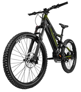 Rambo Bikes - The Rambo Rampage 1000W 48V XPFS Xtreme Fat Tire E-Bike BLACK/GREEN  🚴‍♂️ - All Wheels Mobility