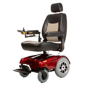 Merits Health - P3017 Gemini Heavy Duty Power Chair BLUE RED w/Optional Seat Lift 👩‍🦼 - All Wheels Mobility