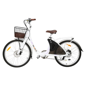 ECOTRIC - Lark 500W 36V Electric City Bike For Women WHITE 🔥🚴‍ HOT SUMMER SELLER!! PLUS FREE GIFT!! 🎁 - All Wheels Mobility