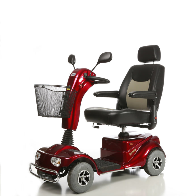 Merits Health - S1415 Pioneer 4 Mobility Scooter RED BLUE w/ Optional Seat Lift 🛵 - All Wheels Mobility