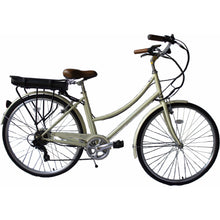 Load image into Gallery viewer, Micargi - Holland 28″ 350W 48V Shimano Electric City Bike VANILLA, MATTE GREY  🚴‍♂️ - All Wheels Mobility