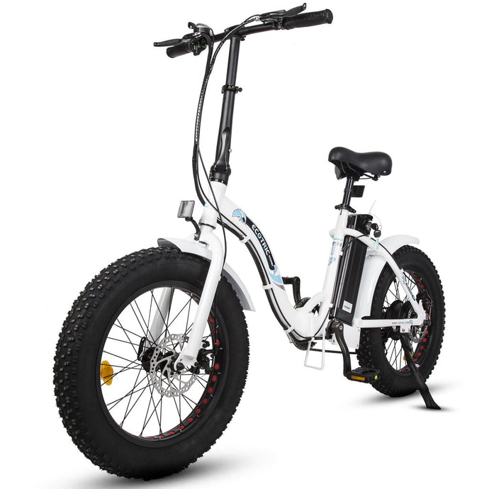 ECOTRIC - Dolphin 500W 36V Folding Fat Electric Bike WHITE BLACK, MATTE BLUE 🔥🚴‍ HOT SUMMER SELLER!! PLUS FREE GIFT!! 🎁 - All Wheels Mobility