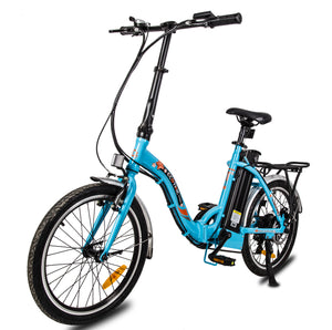 "ECOTRIC - Starfish 20"" 350W 36V Portable & Folding Electric Bike WHITE, MATTE BLACK, BLUE 🔥🚴‍ HOT SUMMER SELLER!! PLUS FREE GIFT!! 🎁 - All Wheels Mobility"