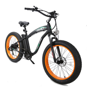 ECOTRIC - Hammer 1000W 48V Electric Fat Tire Beach Snow Bike MATTE BLACK, BLUE, ORANGE 🔥🚴‍ HOT SUMMER SELLER!! PLUS FREE GIFT!! 🎁 - All Wheels Mobility
