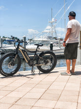 Load image into Gallery viewer, Rambo Bikes - The Rambo Ryder 750W 24 48V E-Bike BLACK/TAN  🚴‍♂️ - All Wheels Mobility