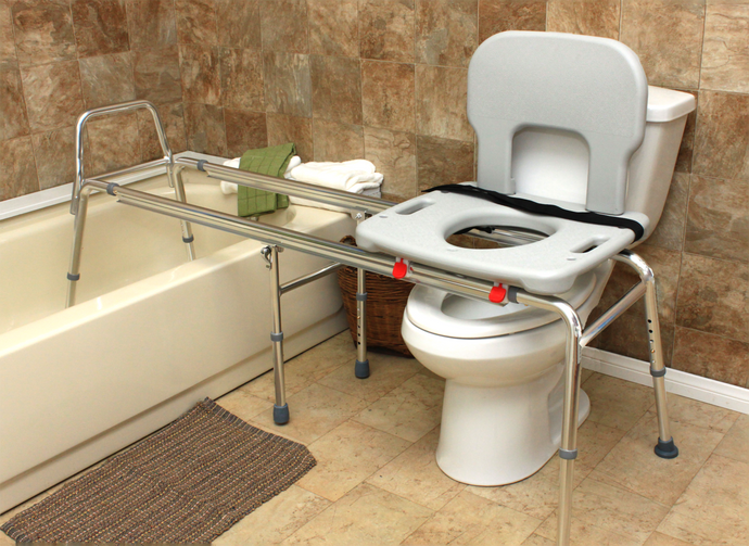 Eagle Health Supplies -Toilet-to-Tub Sliding Transfer Bench - Long, Extra Long, XX Long