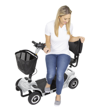 Load image into Gallery viewer, Vive Health - 4 Wheel Mobility Scooter BLUE SILVER 🛵 - All Wheels Mobility