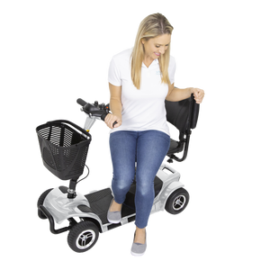 Vive Health - 4 Wheel Mobility Scooter BLUE SILVER 🛵 - All Wheels Mobility