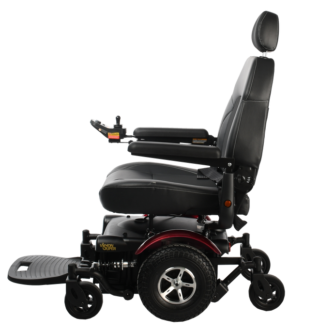 Merits Health - P327 Vision Super Heavy Duty Power Chair RED BLUE 👩‍🦼 - All Wheels Mobility
