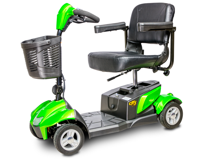 EV Rider - 4-Wheel CityCruzer Scooter BLACK, RED, SILVER, GREEN 🛵 - All Wheels Mobility
