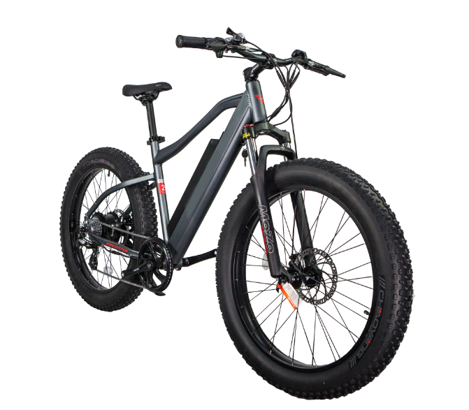 GlareWheels - EB-PR 500W 48V Predator Fat Tire E-Bike GRAY BLACK 🚴‍♂️ - All Wheels Mobility