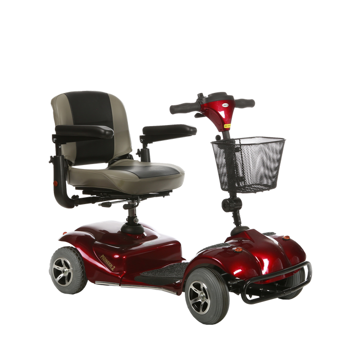 Merits Health - S2454 Pioneer 2 Mobility Scooter RED BLUE 🛵 - All Wheels Mobility