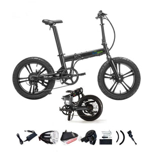 "Qualisports - Beluga 20"" 500W 48V E-Bike BLACK, SILVER GREY 🚴‍♂️ - All Wheels Mobility"