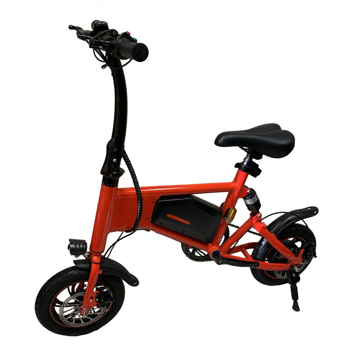 GlareWheels - X5 Foldable E-Bike WHITE BLACK RED 🚴‍♂️ - All Wheels Mobility