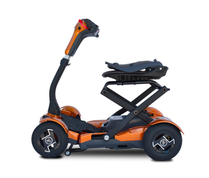 EV Rider - 4-Wheel Teqno Scooter JUPITER GOLD or RUBY RED 🛵 - All Wheels Mobility