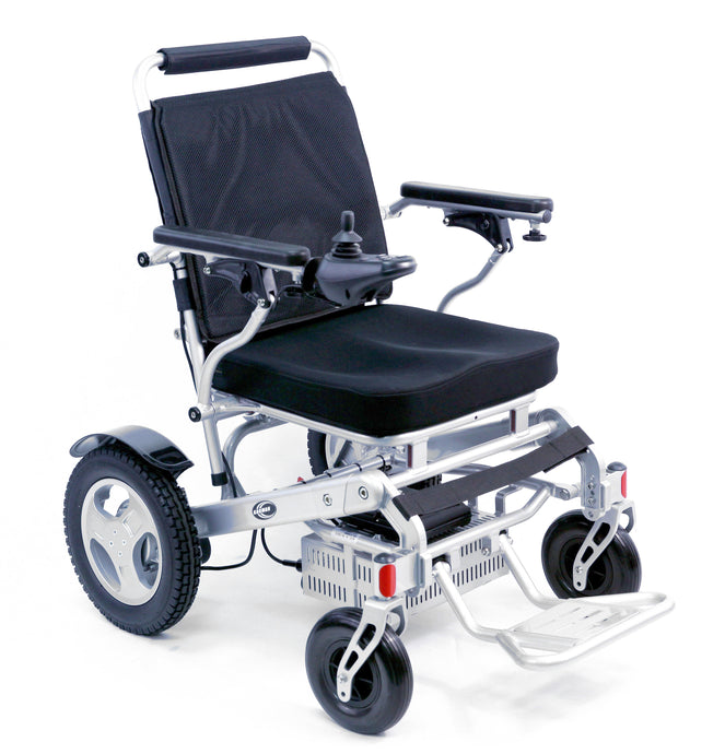 Karman Healthcare - Tranzit Go Foldable Power Wheelchair SILVER BLACK 👩‍🦼 - All Wheels Mobility