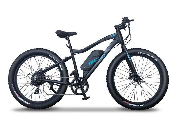 Emojo - Wildcat PRO HD 750W 48V E-Bike BLACK WHITE 🚴‍♂️ - All Wheels Mobility