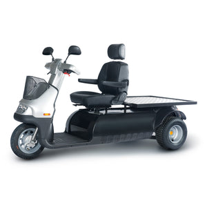AFIKIM - Afiscooter M 3 Scooter Single or Dual Seat SILVER 🛵 - All Wheels Mobility