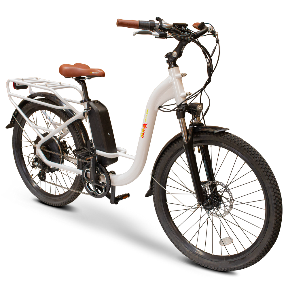 EWheels - BAM-Step Thru 750W 48V E-Bike WHITE 🚴‍♂️ - All Wheels Mobility