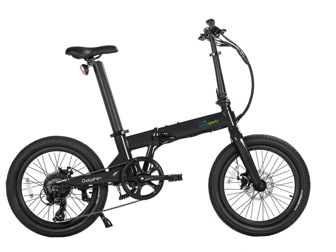 Qualisports - Dolphin 350W 36V E-Bike SILVER BLACK 🚴‍♂️ - All Wheels Mobility