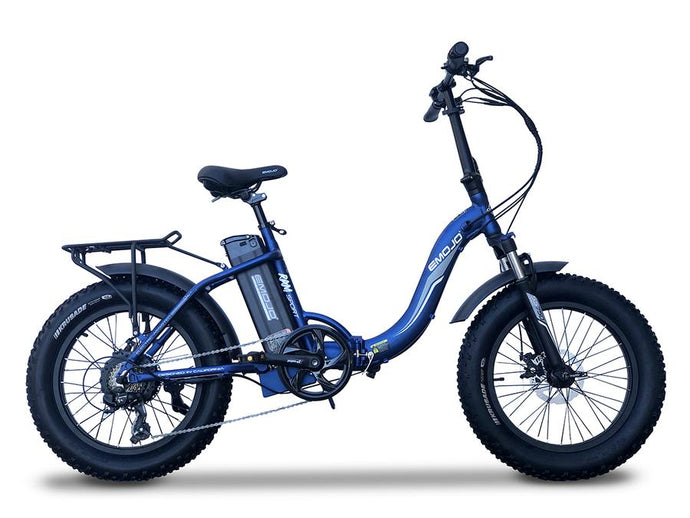Emojo - Ram Sport 750W Folding E-Bike BLUE ORANGE RED WHITE 🚴‍♂️ - All Wheels Mobility