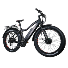 Load image into Gallery viewer, Eunorau - FAT-AWD 48V/250W+350W E-Bike BLACK 🚴‍♂️ - All Wheels Mobility