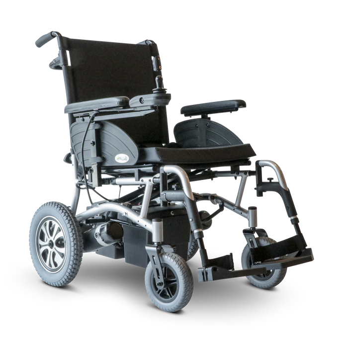 EWheels - EW-M47 Power Wheelchair RED SILVER BLACK 👩‍🦼 - All Wheels Mobility