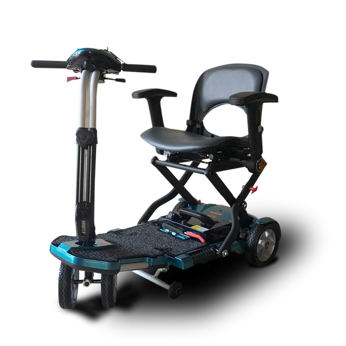 EV Rider - 4-Wheel Transport Plus + Folding Mobility Scooter BURGUNDY RED, SEA BLUE, PENNY COPPER or METALLIC PLUM 🛵 - All Wheels Mobility