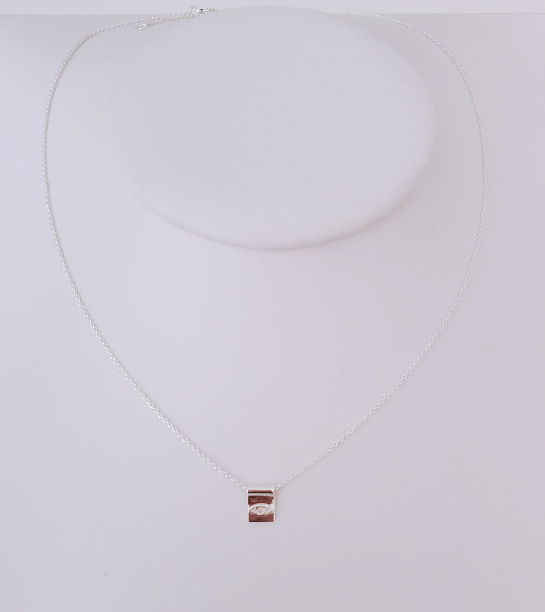 Square Eye Pendant Necklace