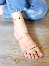 Load image into Gallery viewer, Pearls chain Anklet
