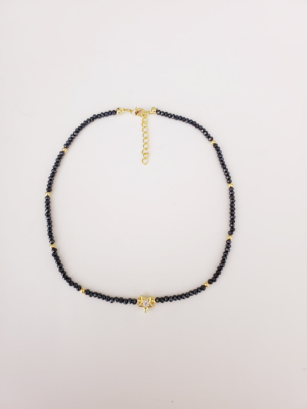 Pave Star and Crystals Beads Choker