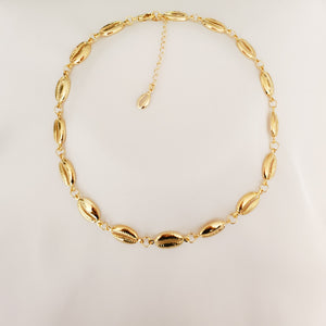 Gold Puka Shell Necklace