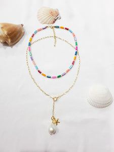 Colorful Mother of Pearl Necklace/Choker
