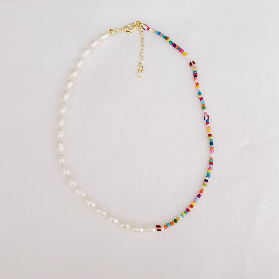 Freshwater Pearls and Seed Beads Necklace