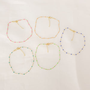 Neon Colors Chain Anklet