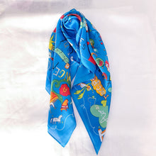 Load image into Gallery viewer, Square Silk Neckerchief/Scarf