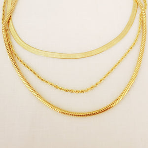 Double Rope 1.5 MM Chain Neckalce